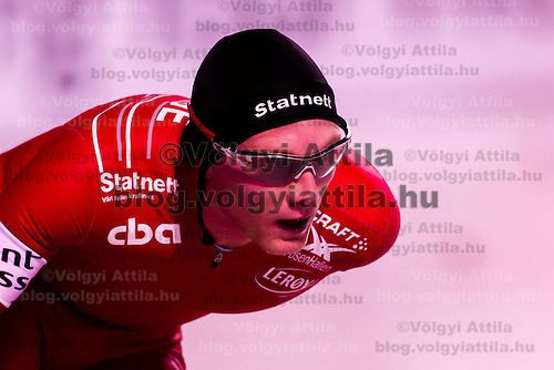 Norway's Havard Bokko placed third in the Men's 10000m race of the Speed Skating All-round European Championships in Budapest, Hungary on January 8, 2012. ATTILA VOLGYI