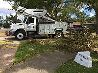 2017 FPL Hurricane Irma restoration in Miami, Fla. on Sept. 15, 2017.