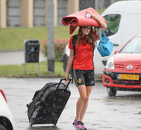20170725 - TILBURG , NETHERLANDS :  Belgian Tessa Wullaert pictured going back to Belgium as the Belgian national women's soccer team Red Flames was not able to qualify for the quarter finals after a loss against The Netherlands , on Tuesday 25 July 2017 in Tilburg . The Red Flames finished on 3 th place in Group A at the Women's European Championship 2017 in the Netherlands. PHOTO SPORTPIX.BE | DAVID CATRY