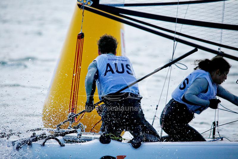 AustraliaSirena SL16OpenCrewAUSSR29SophieRenouf<br /> AustraliaSirena SL16OpenHelmAUSSC40ShaunConnor<br /> Day4, 2015 Youth Sailing World Championships,<br /> Langkawi, Malaysia