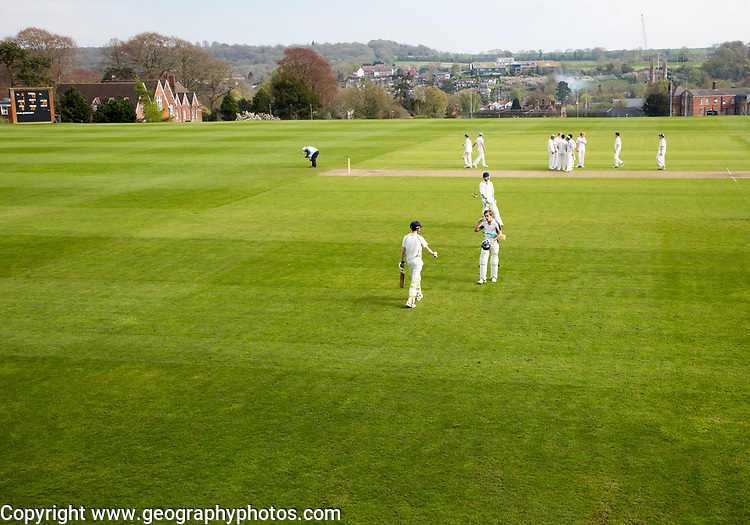 Marlborough College cricket match against Eton College, Marlborough, Wiltshire, England, UK