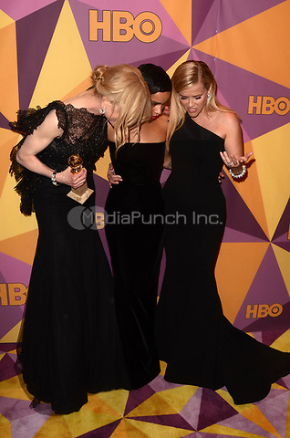 BEVERLY HILLS, CA - JANUARY 7: Nicole Kidman, Zoe Kravitz, Reese Witherspoon at the HBO Golden Globes After Party, Beverly Hilton, Beverly Hills, California on January 7, 2018. Credit: <br /> David Edwards/MediaPunch