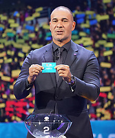 Ruud Gullit hat Frankreich in die Gruppe F mit Deutschland gezogen - 30.11.2019: UEFA EURO2020 Auslosung, Romexpo Bukarest, DISCLAIMER: UEFA regulations prohibit any use of photographs as image sequences and/or quasi-video.