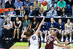 DALLAS, TX - MARCH 31: Morgan William #2 of the Mississippi State Lady Bulldogs attempts a floating jump shot over Natalie Butler #51 of the Connecticut Huskies during the 2017 Women's Final Four at American Airlines Center on March 31, 2017 in Dallas, Texas. (Photo by Tim Nwachukwu/NCAA Photos via Getty Images)