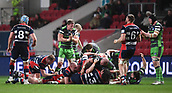 23rd March 2018, Ashton Gate, Bristol, England; RFU Rugby Championship, Bristol versus Yorkshire Carnegie; Yorkshire Carnegie Celebrate turning over the maul