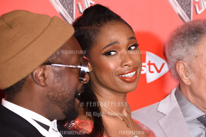 Will.I.Am &amp; Jennifer Hudson at the photocall for The Voice UK 2018 launch at Ham Yard Hotel, London, UK. <br /> 03 January  2018<br /> Picture: Steve Vas/Featureflash/SilverHub 0208 004 5359 sales@silverhubmedia.com