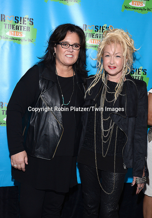 Rosie O'Donnell and  Cyndi Lauper  attends Rosie O'Donnell's 11th Annual Rosie's Theater Kids Gala on September 22, 2014 at The New York Marriott Marquis in New York City. <br /> <br /> photo by Robin Platzer/Twin Images<br />  <br /> phone number 212-935-0770