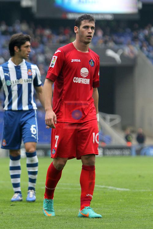 Alvaro Vazquez. RCD Espanyol vs Getafe: 0-2 - LFP League BBVA 2012/13 - Game: 13.