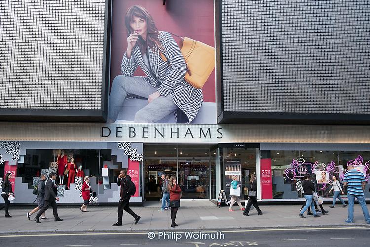Debenhams store, Oxford Street, London.