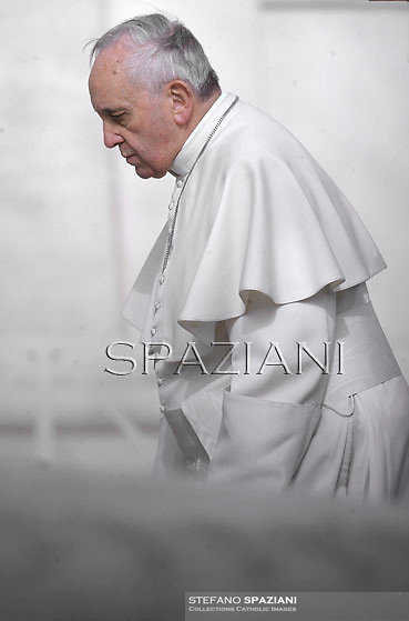 Pope Francis during his weekly general audience in St. Peter square at the Vatican, Wednesday.February 19, 2014.