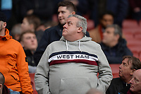 West Ham fans during Arsenal vs West Ham United, Premier League Football at the Emirates Stadium on 7th March 2020
