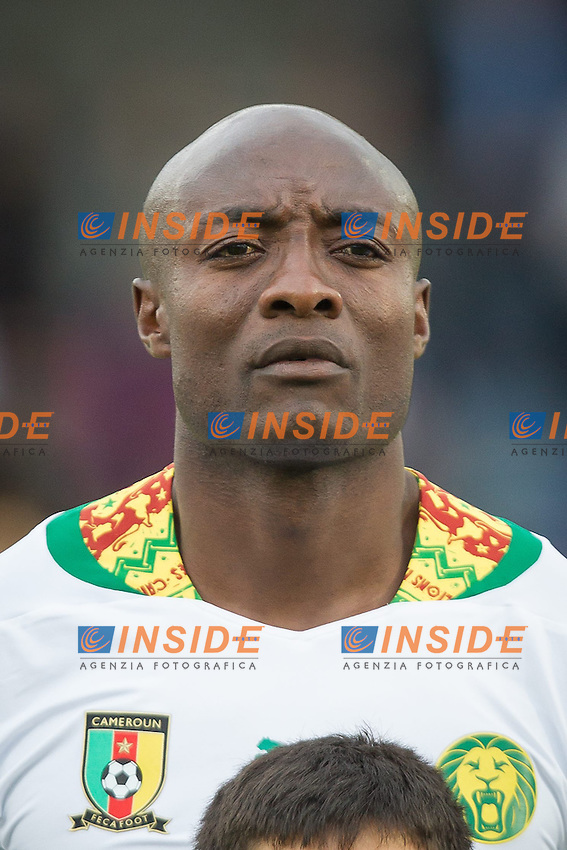 26.05.2014, Kufstein Arena, Kufstein, AUT, FIFA WM, Testspiel, Mazedonien vs Kamerun, im Bild Achille Webo (Kamerun) // Achille Webo (Kamerun) during friendly match between Macedonia and Cameroon for Preparation of the FIFA Worldcup Brasil 2014 at the Kufstein Arena in Kufstein, Austria on 2014/05/26. EXPA Pictures &copy; 2014, PhotoCredit: EXPA/ JFK <br /> Calcio Cameun Macedonia <br /> Foto Expa / Insidefoto  <br /> Calcio Preparazione Mondiali