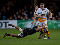 Wasps' Thomas Young in action during todays match<br /> <br /> Photographer Bob Bradford/CameraSport<br /> <br /> European Rugby Heineken Champions Cup Pool 1 - Bath Rugby v Wasps - Saturday 12th January 2019 - The Recreation Ground - Bath<br /> <br /> World Copyright © 2019 CameraSport. All rights reserved. 43 Linden Ave. Countesthorpe. Leicester. England. LE8 5PG - Tel: +44 (0) 116 277 4147 - admin@camerasport.com - www.camerasport.com