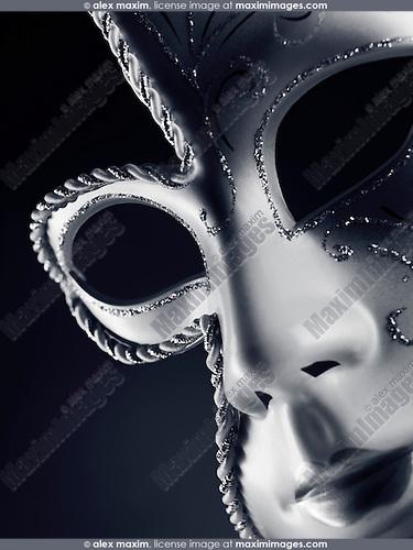 Beautiful silver Venetian mask