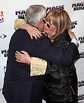 "David Stern & Penny Marshall pictured at the ""Magic/Bird"" Opening Night Arrivals at the Longacre Theatre in New York City on April 11, 2012 © Walter McBride / WM Photography  Ltd."