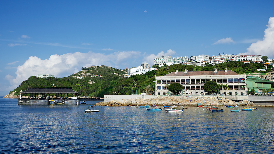 Murray House & Blake Pier, Uprooted From Their Original Central Location And Now Residing In Stanley, Hong Kong.  Murray House Was Built In 1844 As Military Officers' Quarters.  Blake's Pier Was Built In 1900 And The Steel Pavilion Cover Added In 1909.