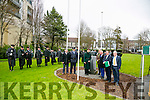 Easter Rising ceremony - Formal raising of the National Flag at Páirc An Phiarsaigh, Denny Street, Tralee by Mayor Thomas McEllistrim on Sunday