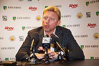 09-02-13, Tennis, Rotterdam, qualification ABNAMROWTT, Boris Becker, in the pressconference
