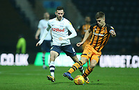 Hull City's Markus Henriksen shields the ball from Preston North End's Alan Browne<br /> <br /> Photographer Stephen White/CameraSport<br /> <br /> The EFL Sky Bet Championship - Preston North End v Hull City - Wednesday 26th December 2018 - Deepdale Stadium - Preston<br /> <br /> World Copyright &copy; 2018 CameraSport. All rights reserved. 43 Linden Ave. Countesthorpe. Leicester. England. LE8 5PG - Tel: +44 (0) 116 277 4147 - admin@camerasport.com - www.camerasport.com