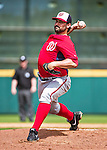 12 March 2014: Washington Nationals pitcher Tanner Roark on the mound during a Spring Training game against the Houston Astros at Osceola County Stadium in Kissimmee, Florida. The Astros rallied in the bottom of the 9th to edge out the Nationals 10-9 in Grapefruit League play. Mandatory Credit: Ed Wolfstein Photo *** RAW (NEF) Image File Available ***