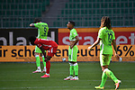Schlusspfiff, Alphonso DAVIES (M) erschoepft, <br /> Victor JOAO (WOB) und Kevin MBABU (WOB) enttaeuscht, enttäuscht, Enttäuschung, Enttaeuschung<br /> <br /> Sport: Fussball: 1. Bundesliga: Saison 19/20: 34.Spieltag, <br /> VFL WOLFSBURG - FC BAYERN MUENCHEN <br /> am 27.06.2020 in der Volkswagen Arena Wolfsburg, <br /> <br /> Nur fuer journalistische Zwecke! <br /> Only for editorial use!<br /> Gemaess den Vorgaben der DFL Deutsche Fussball Liga ist es untersagt, in dem Stadion und/oder vom Spiel angefertigte Fotoaufnahmen in Form von Sequenzbildern und/oder videoaehnlichen Fotostrecken zu verwerten bzw. verwerten zu lassen. <br /> DFL regulations prohibit any use of photographs as image sequences and/or quasi-video.<br /> National and International News Agencies OUT<br /> NO RESALE!