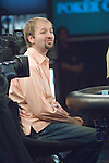 Negreanu, after losing a hand, is a bit frustrated.