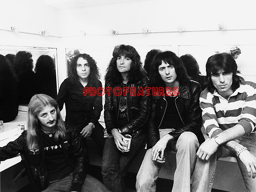Rainbow 1978 with Ritchie Blackmore, Ronnie James Dio and Cozy Powell.© Chris Walter.