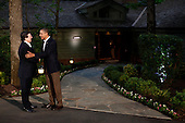 United States President Barack Obama greets European Commission President Jose Manuel Barroso in front of Laurel Lodge at Camp David during the 2012 G8 Summit on Friday, May 18, 2012 in Camp David, Maryland. Leaders of eight of the worlds largest economies meet over the weekend in an effort to keep the lingering European debt crisis from spinning out of control. .Credit: Luke Sharrett / The New York Times / Pool via CNP
