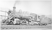 K-37 #492 awaiting assignment in yard.<br /> D&amp;RGW  Alamosa ?, CO