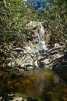 Enjoying solitude at the<br /> Reef Bay Waterfall and Petroglyphs<br /> Virgin Islands National Park<br /> St. John, US Virgin Islands