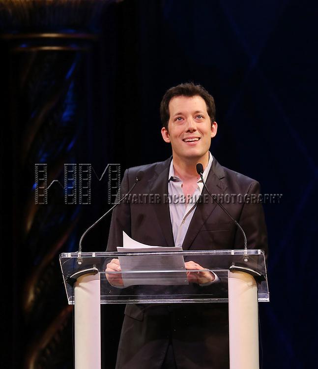 John Tartaglia during the 69th Annual Theatre World Awards Presentation at the Music Box Theatre in New York City on June 03, 2013.