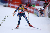 7th January 2018, Val di Fiemme, Fiemme Valley, Italy; FIS Cross Country World Cup, Tour de ski; Ladies 9km F Pursuit; Elizabeth Stephen (USA)