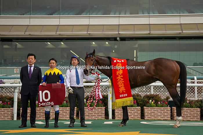 TAKARAZUKA,JAPAN-MAR 22: You Can Smile,ridden by Yasunari Iwata, after winning the Hanshin Daishoten at Hanshin Racecourse on March 22,2020 in Takarazuka,Hyogo,Japan. Kaz Ishida/Eclipse Sportswire/CSM