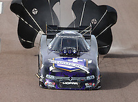 Feb 21, 2015; Chandler, AZ, USA; NHRA funny car driver Jack Beckman during qualifying for the Carquest Nationals at Wild Horse Pass Motorsports Park. Mandatory Credit: Mark J. Rebilas-