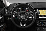 Car pictures of steering wheel view of a 2018 Jeep Compass Limited 5 Door SUV