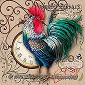 Alfredo, STILL LIFE STILLLEBEN, NATURALEZA MORTA, paintings+++++,BRTOXX09015,#i# ,rooster,clock