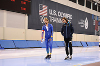 SPEEDSKATING: SALT LAKE CITY: 06-12-2017, Utah Olympic Oval, ISU World Cup, training, Michel Mulder (NED), Gerard van Velde (trainer/coach NED), photo Martin de Jong