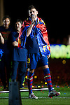 BARCELONA (16/05/2010).- Barcelona players celebrate Spanish League Championship at Camp Nou Stadium. Gerard Pique...Photo. Gregorio / ALFAQUI