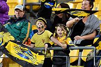 Fans during the Super Rugby - Hurricanes v Highlanders at Westpac Stadium, Wellington, New Zealand on Friday 8 March 2019. <br /> Photo by Masanori Udagawa. <br /> www.photowellington.photoshelter.com