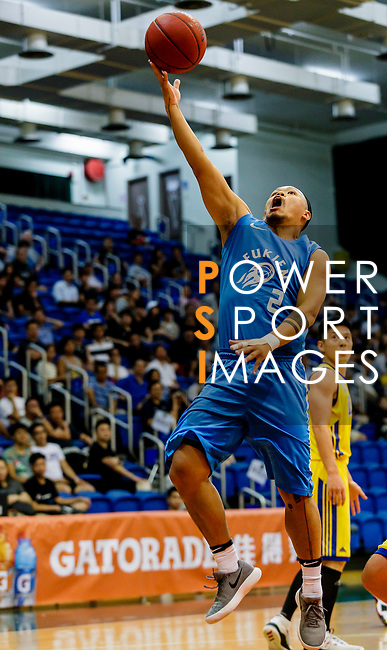 Lam Chi Lok #2 of Fukien Basketball Team tries to score during the Hong Kong Basketball League game between Winling and Fukien at Southorn Stadium on May 29, 2018 in Hong Kong. Photo by Yu Chun Christopher Wong / Power Sport Images