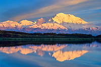 20, 3020+ Ft. Mt. Denali, Reflection Pond, Sunset, Denali National Park, Alaska