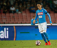 Jose Callejon  during the  italian serie a soccer match,between SSC Napoli and   Bologna FC    at  the San  Paolo   stadium in Naples  Italy , September 18, 2016
