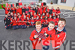 Some of the Pupils from St Johns National School, Kenmare, who were out in the Kenmare colours ahead of their All Ireland junior final