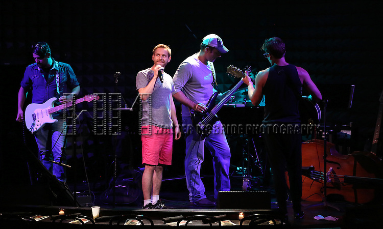 Trevor Vaughn and Reserved For Rondee in rehearsal for 'The Lord & The Master - Broadwayworld.com sings Andrew Lloyd Webber & Stephen Sondheim'  at Joe's Pub on June 16, 2014 in New York City.