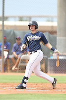 Kyle Overstreet (17) of the AZL Padres bats during a game against the AZL Rangers at the San Diego Padres Spring Training Complex on July 4, 2015 in Peoria, Arizona. Padres defeated the Rangers, 9-2. (Larry Goren/Four Seam Images)