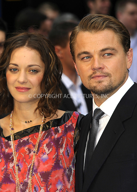 "WWW.ACEPIXS.COM . . . . .  ..... . . . . US SALES ONLY . . . . .....July 8 2010, New York City....Marion Cotillard and Leonardo DiCaprio at the World premiere of ""Inception"" on July 8 2010 in London....Please byline: FAMOUS-ACE PICTURES... . . . .  ....Ace Pictures, Inc:  ..Tel: (212) 243-8787..e-mail: info@acepixs.com..web: http://www.acepixs.com"