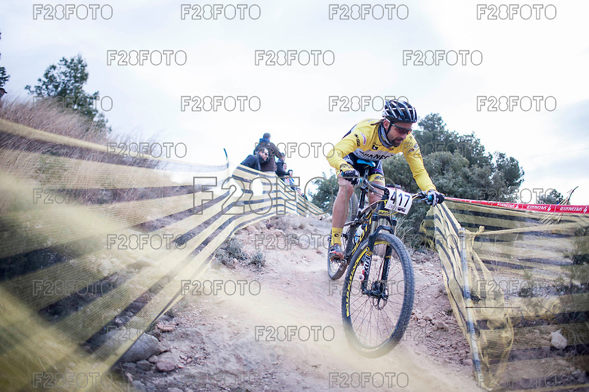 Chelva, SPAIN - MARCH 6: Jordi Rene during Spanish Open BTT XCO on March 6, 2016 in Chelva, Spain