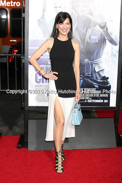 "LOS ANGELES - OCT 26:  Perrey Reeves at the ""Our Brand is Crisis"" LA Premiere at the TCL Chinese Theater on October 26, 2015 in Los Angeles, CA"
