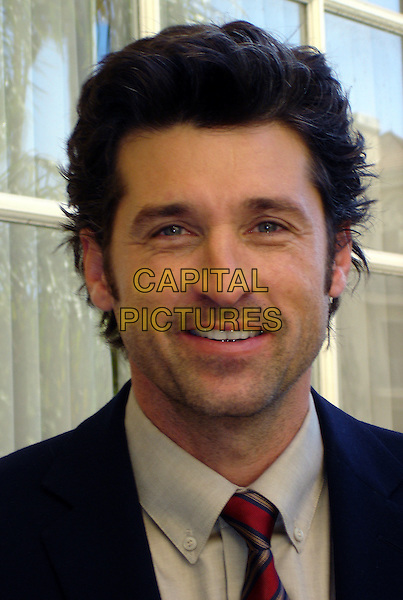 "PATRICK DEMPSEY.Press conference for ""Made of Honor"", The Four Seasons, Burton Room, Los Angeles, California, USA..April 12th, 2008              .headshot portrait .CAP/AW.©Anita Weber/Capital Pictures."