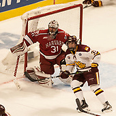 Merrick Madsen (Harvard - 31), Parker Mackay (UMD - 39) - The University of Minnesota Duluth Bulldogs defeated the Harvard University Crimson 2-1 in their Frozen Four semi-final on April 6, 2017, at the United Center in Chicago, Illinois.